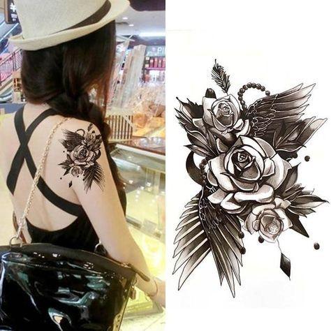 Temporary Tattoos for Women – Waterproof Tattoo Stickers 10x20cm