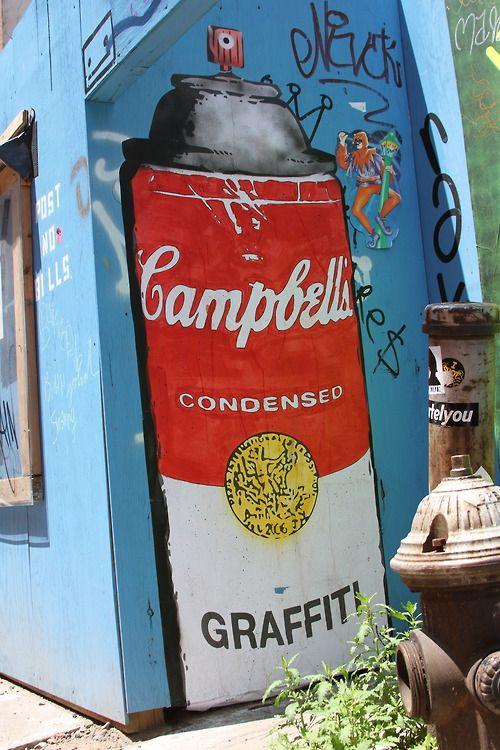 'Campbells Graffiti Soup' -Rene Gagnon Wooster Street, NYCMore photos of Rene Gagnon's work.