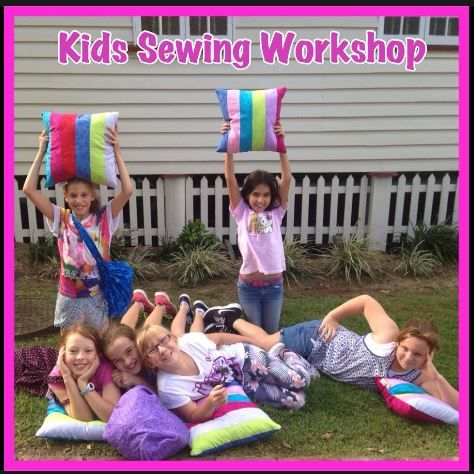 Look at the fun we had sewing a cool bag and Patchwork cushion in our Kids Two Day Sewing Workshop on the Gold Coast. These workshops are available each School Holidays and are for kids 7 and up even if they have never sewn before. Check out our next classes  http://mysewingclub.com/kids-sewing-classes-gold-coast/