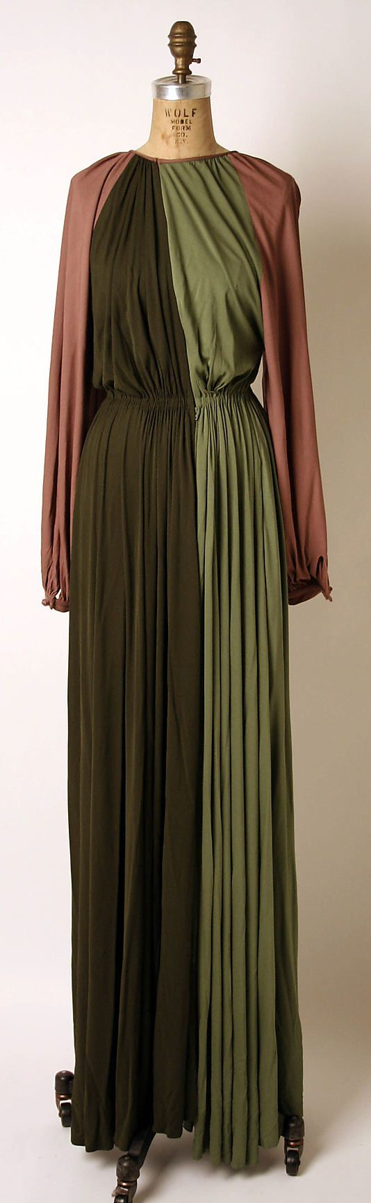 Dress by James Galanos, 1975.