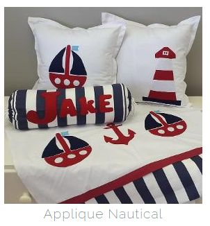 If you've got a #NauticalTheme nursery in #red and #navy, then our combination is absolutely perfect for any #BabyBoy!  #BabyBedding #BabyLinen