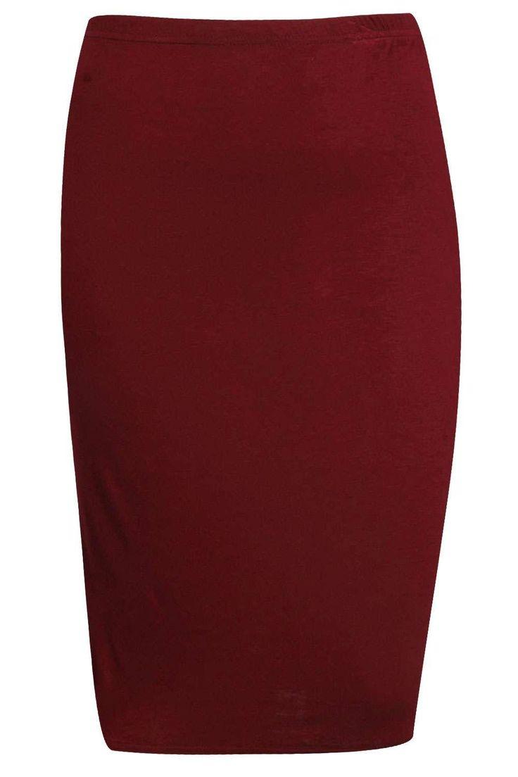 Plus Samia Midi Skirt at boohoo.com