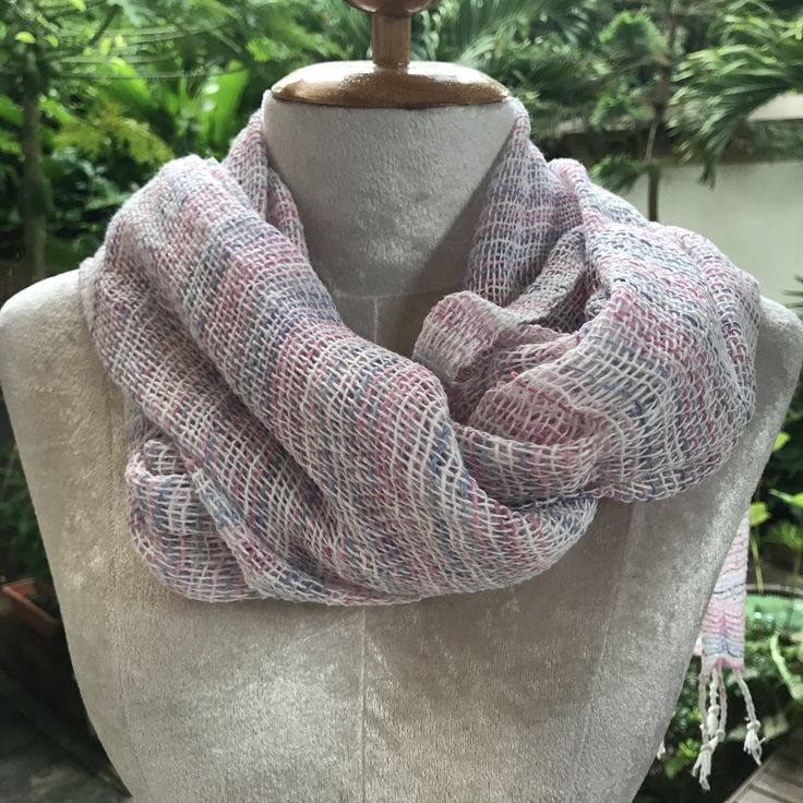 NEW Multi Color Thai Organic Cotton Soft Hand Woven Scarves
