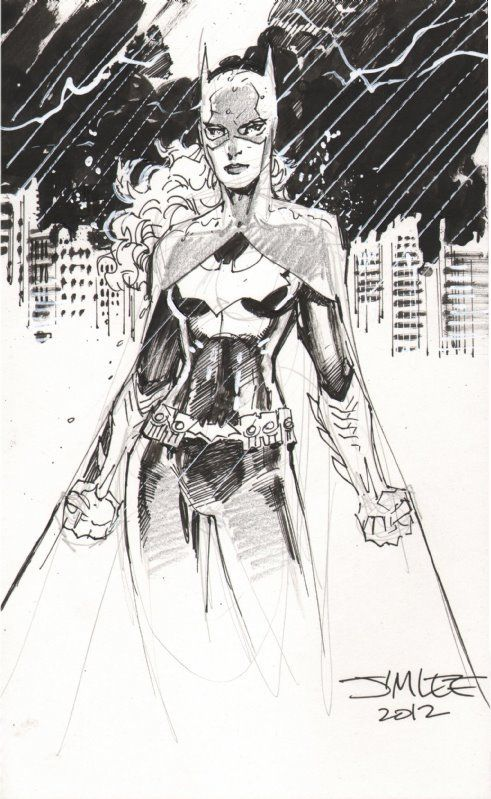 Jim Lee Sketches Batgirl