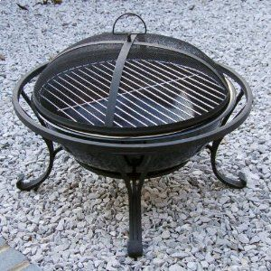 Home Garden Direct Garden Outdoor Black Bowl Fire Pit Brazier Bbq by Home & Garden Direct at the Garden incinerators & Fire Pits