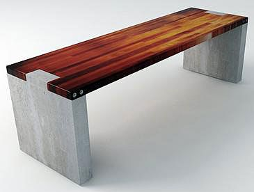 Wood And Concrete Slab Garden Bench | Outdoor Stuff Gardening Etc... |  Pinterest | Concrete Slab, Concrete And Woods