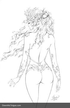 free printable fantasy pinup girl coloring pages google search - Nude Coloring Book