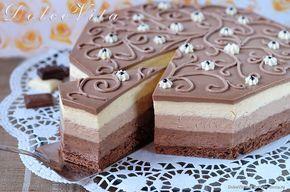 Торт-мусс Три шоколада от Луки Монтерсино
