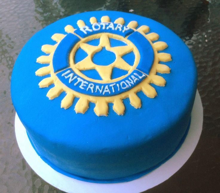 Rotary Club Logo Cake