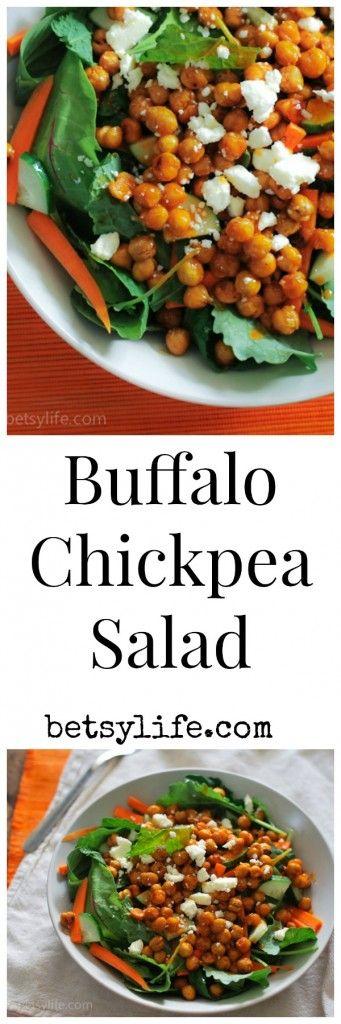 CrispyBuffalo Chickpea Salad Recipe. A healthy and complete meal.