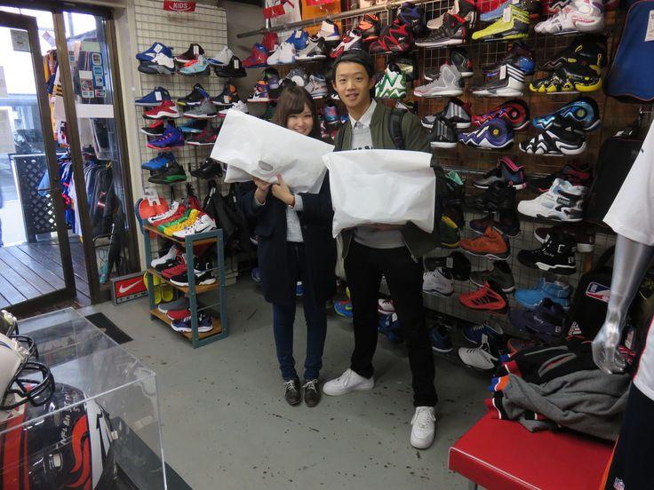 【新宿2号店】2014.11.21 ジョーダンのウェアをお揃いでご購入いただきました。長くご愛用頂けると幸いです。またのご来店お待ちしております!