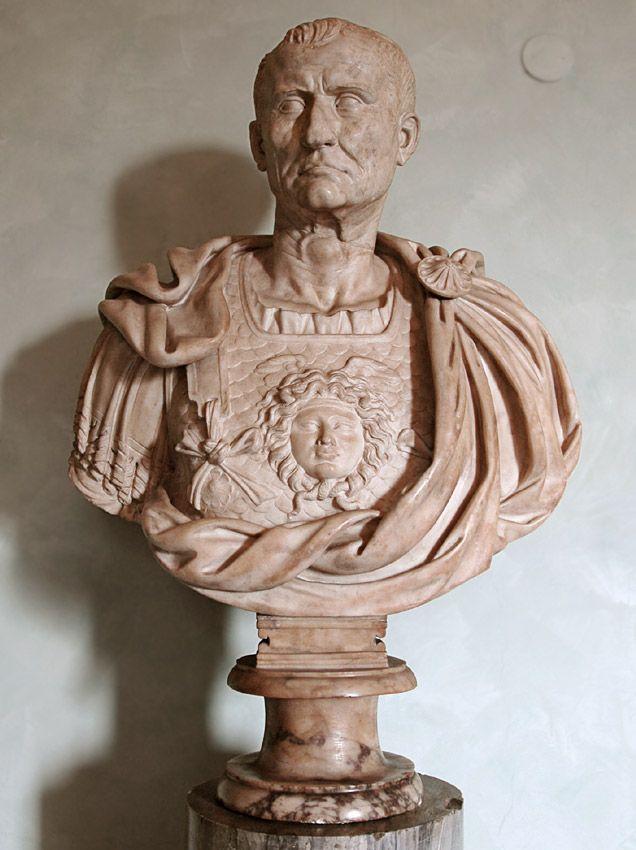 Emperor Galba, Roman bust (marble), (head) 1st century AD, (bust) 1st century BC, (Palazzo dei Conservatori, Rome).