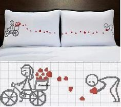 "вышивка на подушках ""а-ля романтик"""