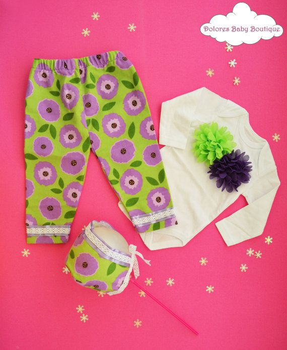 Baby Shower Set Green Baby Pants Baby by DoloresBabyBoutique