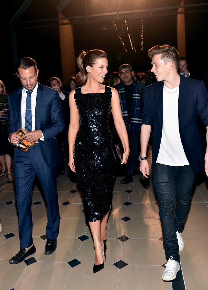 Pin for Later: Last Night's Burberry Show Was About So Much More Than the Runway Kate Beckinsale and Brooklyn Beckham