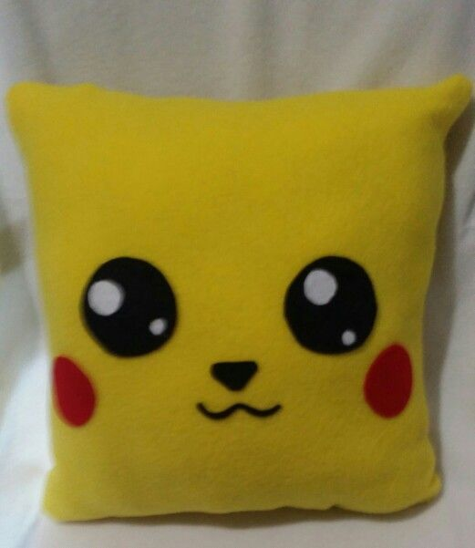Pikachu pokemon throw pillow idea.This would be a simple project for kids to sew.