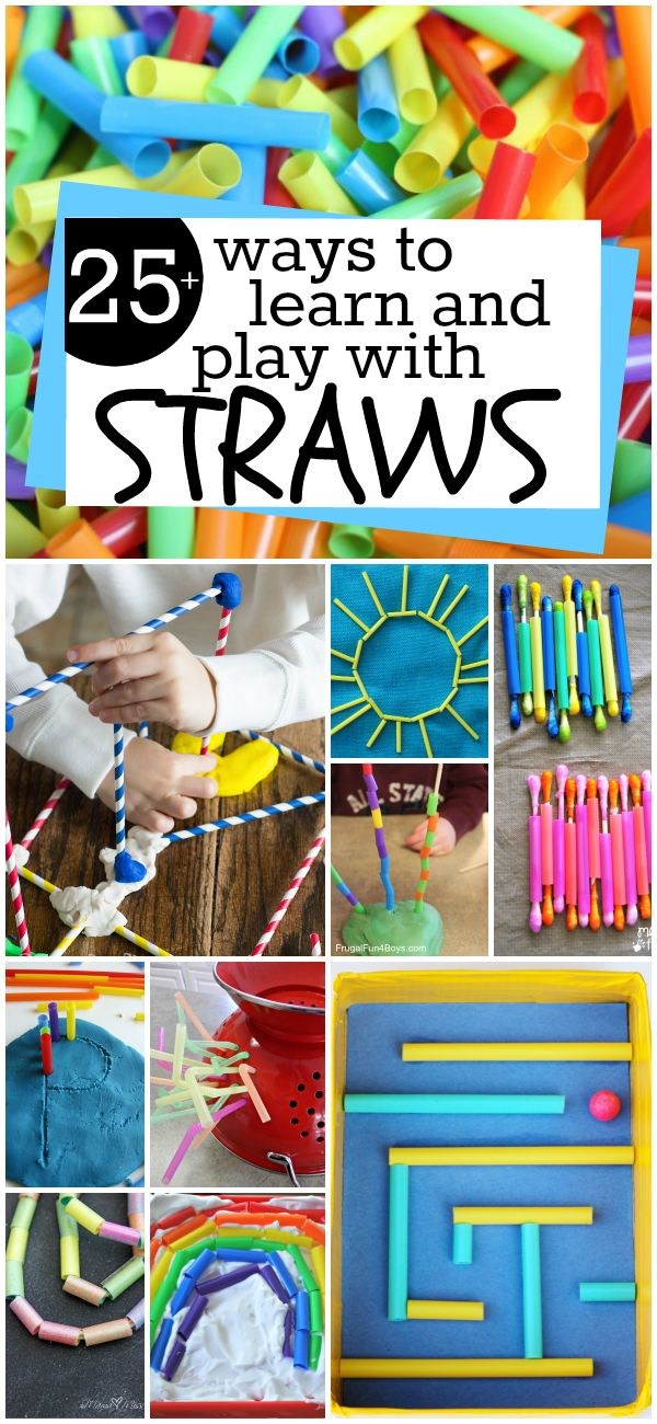 25 Ways to Learn and Play with Straws. Tons of hands-on activities for kids. Who knew a pack of straws could do so many things?!