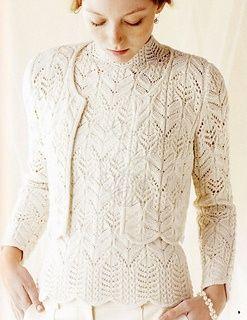 Ravelry: #4 Winter White Cardigan pattern by Hitomi Shida (志田 ひとみ).