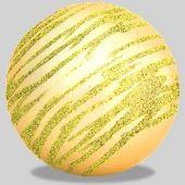 80mm Ball Champagne With Glitter Thread Code: BALLGT8CH