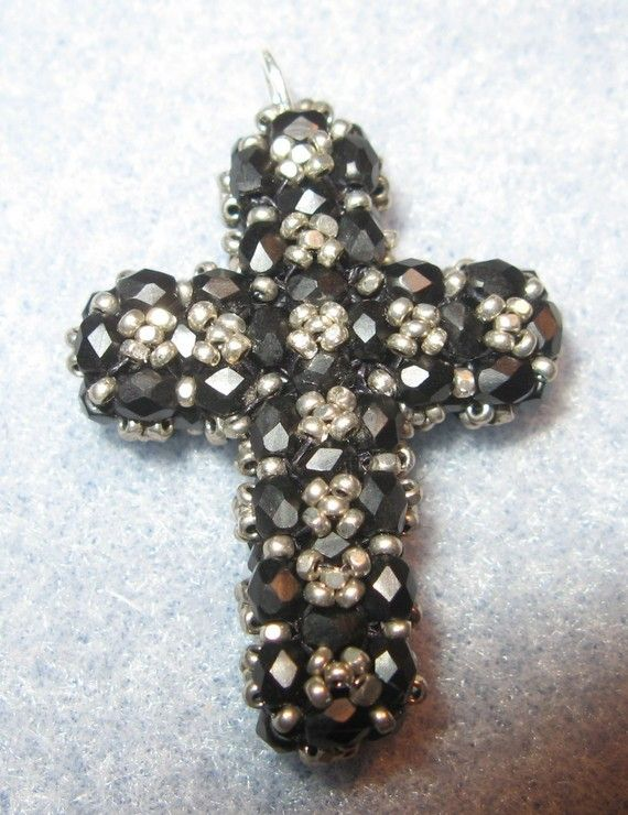 Instructions for RAW Beaded Cross Beading tutorial by njdesigns1