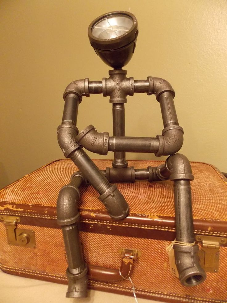 Futuristic Steampunk Style Robotic Looking Lamp