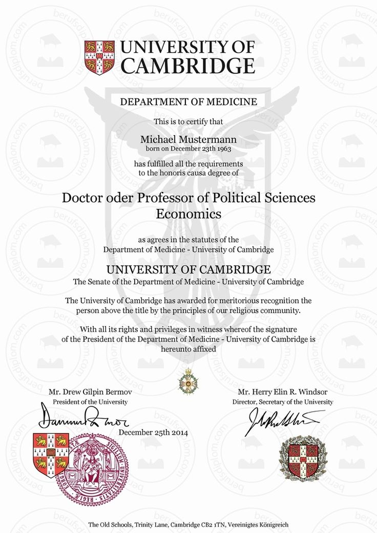 honorary degree template
