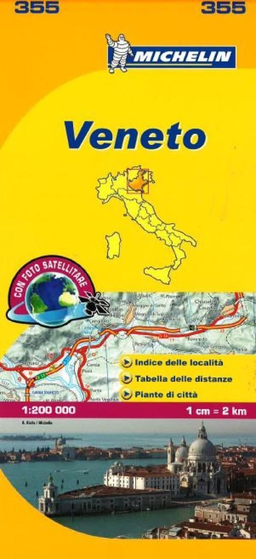 Veneto Italy 355 by Michelin Maps and