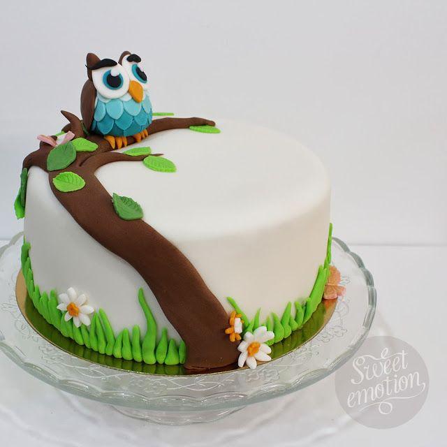 Sweet emotion:  tarta fondant búho cake owl