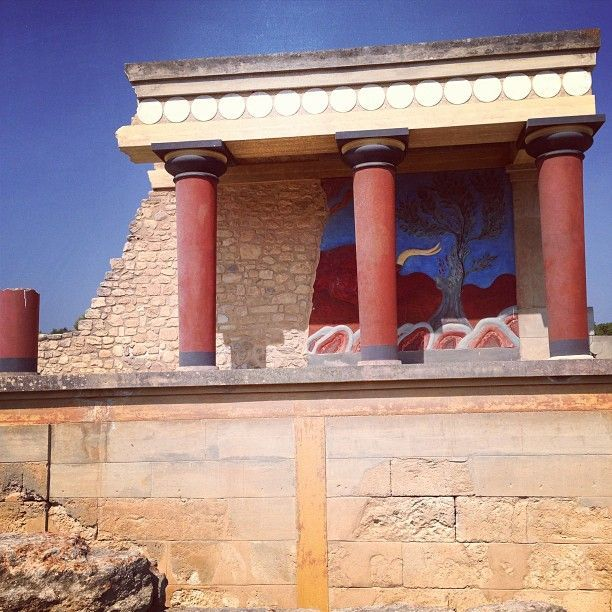 Knossos Bull Relief Fresco Minoan Crete