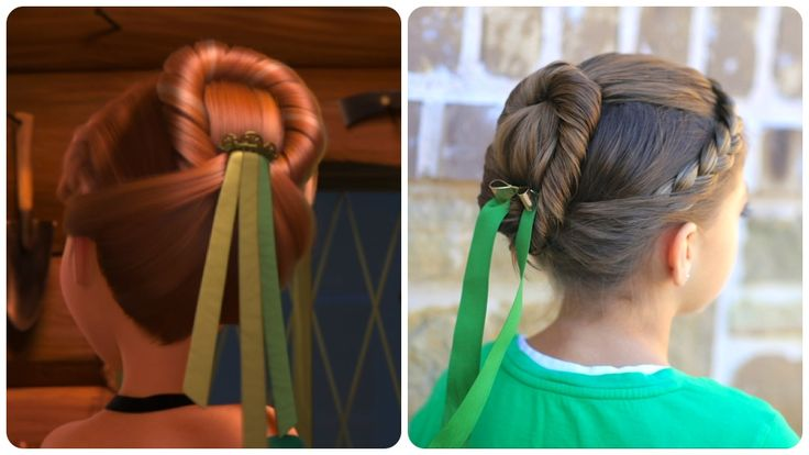 Anna's coronation hairstyle tutorial from Disney's Frozen