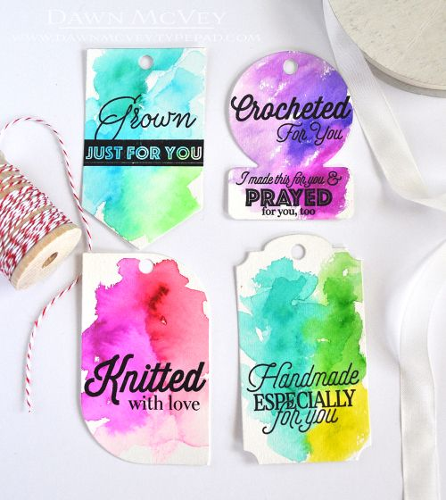 Made With Love Tag Set by Dawn McVey for Papertrey Ink (April 2017)
