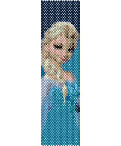 Disneys Frozen Elsa Character Bracelet Peyote Pattern