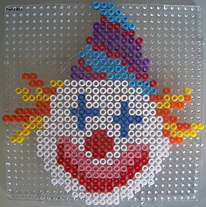 Clown hama beads by Les loisirs de Pat
