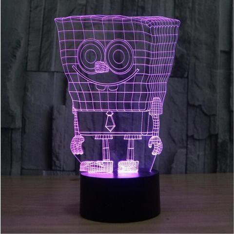 SpongeBob  3D illusion night light