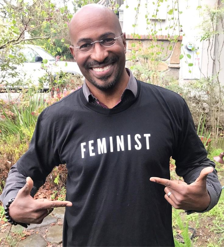 """Van Jones: """"Proud to be a feminist and to rep my feminist t-shirt! Join me, #LoveArmy, and the #phenomenalwoman campaign to support the critical work of six fearless organizations advancing women's equality. Get yours at omaze.com/feminist through the link in my bio."""" #feminist #resist"""