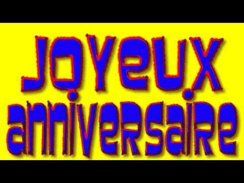 Joyeux Anniversaire (Happy Birthday in French) - alain le lait - YouTube