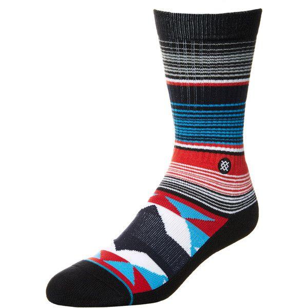 Stance San Blas Sock (62 BRL) ❤ liked on Polyvore featuring men's fashion, men's clothing, men's socks, accessories, men, mens gray crew socks, mens socks, mens seamless socks, mens grey socks and stance mens socks