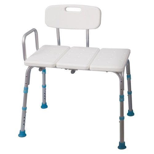 Aquasense Adjustable Bath and Shower Transfer Bench with Reversible Backrest - Best Shower Transfer Benches