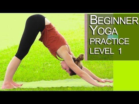 Yoga - Beginner Yoga Practice Level 1 - YouTube