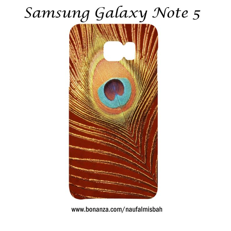Elegant Peacock Feather Samsung Galaxy Note 5 Case Cover Wrap Around