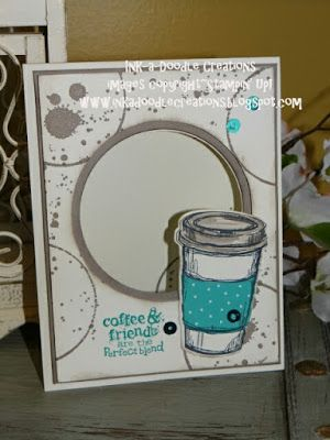Ink a Doodle Creations, stampin up perfect blend, coffee, stylin stampin inkspiration, handmade cards