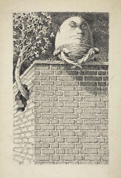 Mervyn Peake's illustrations for Alice in Wonderland