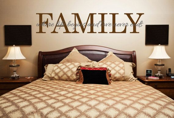 Family Wall Quotes. FAMILY. Where life begins. - CODE 022