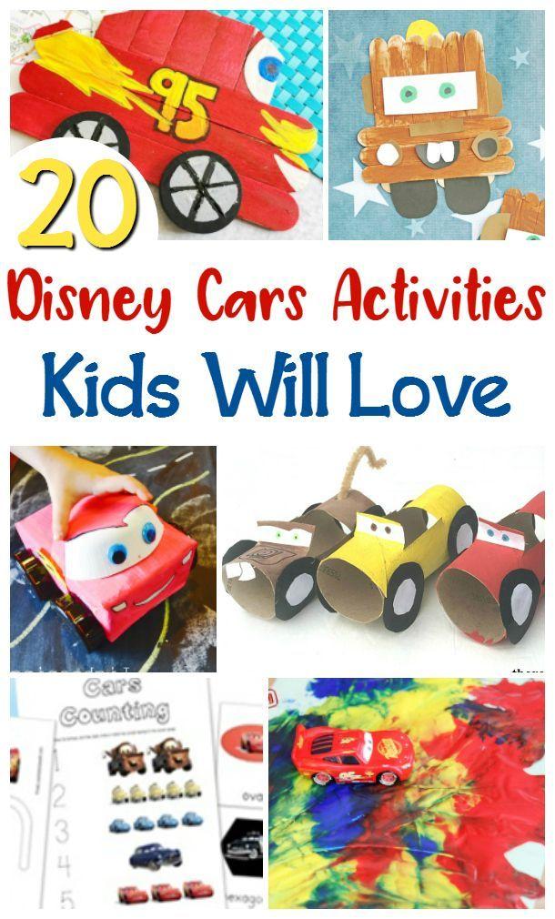 disney cars activities for kids