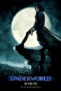 Underworld (2003), Lakeshore Entertainment, Laurinfilm, and Subterranean Productions LLC with Kate Beckinsale, Scott Speedman, Bill Nighy, Michael Sheen, and Shane Brolly. I have a hard time considering this a horror flick. I love the Underworld flicks.
