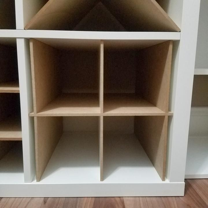 4 Cubby Cube Insert For Cube Storage Shelves In 2020 Cube Storage Cube Storage Shelves Storage Bins