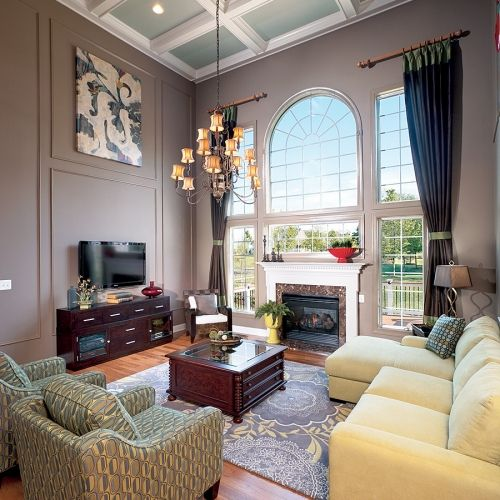 11 best two story family room images on pinterest beach for Warm inviting colors for living room