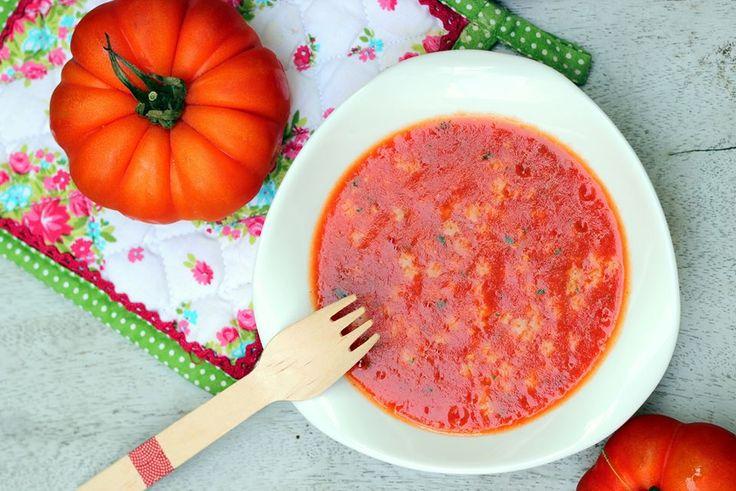 CAMELIE: Soupe de Tomates, pâtes étoiles et basilic - pour bébé dès 10 mois