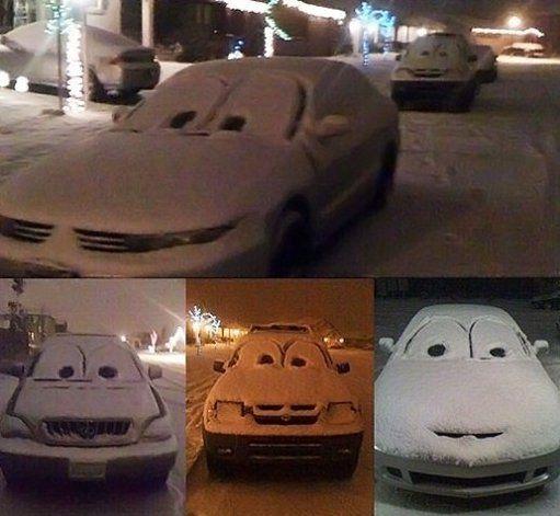 Do this to random cars in the winter. ha ha ha funny