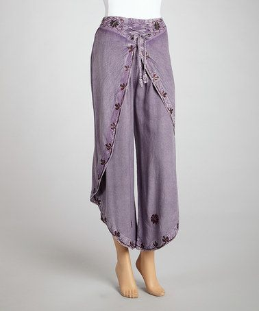 Look what I found on #zulily! Light Purple Embroidered Dhothi Pants by The OM Company #zulilyfinds